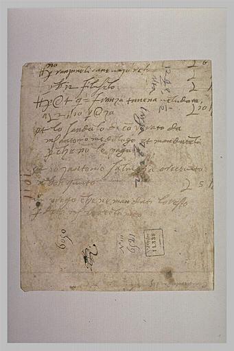 Texte manuscrit en dialecte vénitien