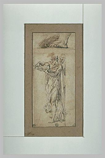Saint Jérôme se retournant vers une autre figure, et un pied