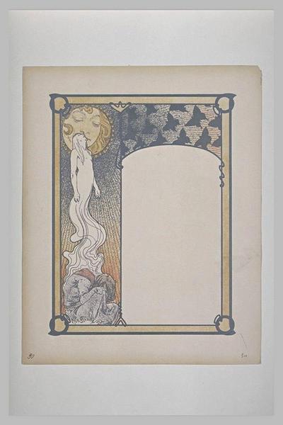 Etude pour Ilsée, chapitre III : Figure s'élevant au-dessus d'un personnage, baisant les lèvres du soleil