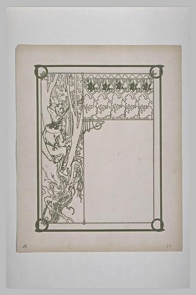 Etude pour Ilsée : Figure dans un arbre regardant une femme