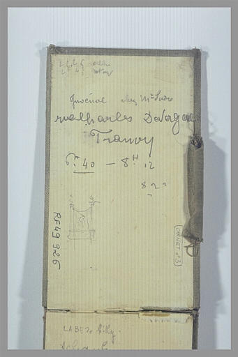 Notes manuscrites, et petit croquis