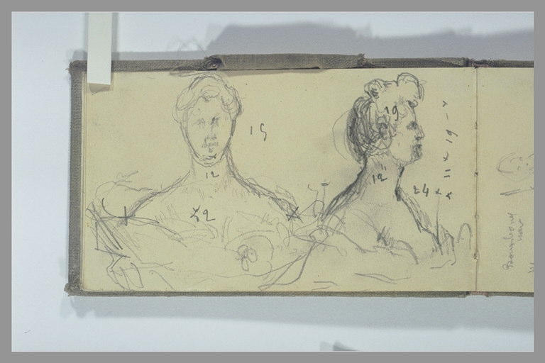 POMPON François : Deux études d'un buste de femme