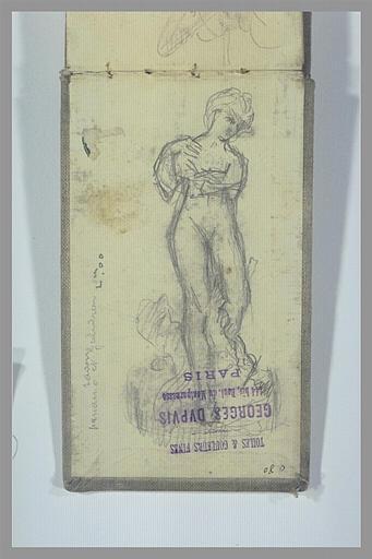 Statue d'une femme nue