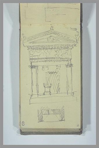 Etude d'un petit temple antique