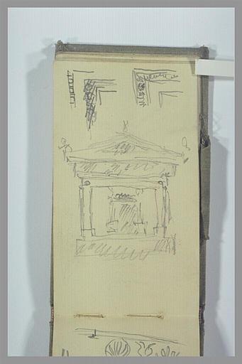 POMPON François : Temple antique, deux études de frises