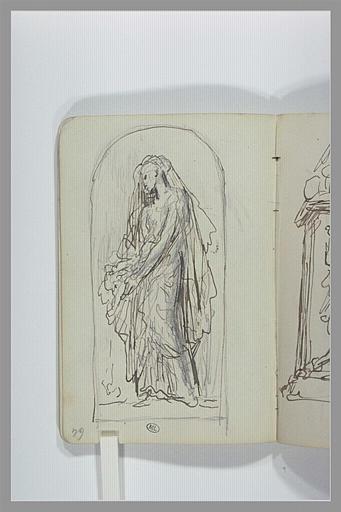 CHAPU Henri Michel Antoine : Une femme, debout, drapée