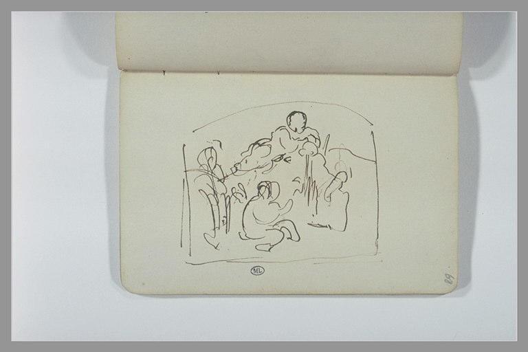 CHAPU Henri Michel Antoine : Composition avec des enfants ou des amours
