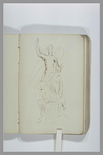 CHAPU Henri Michel Antoine : Figure ailée : projet d'un monument funéraire