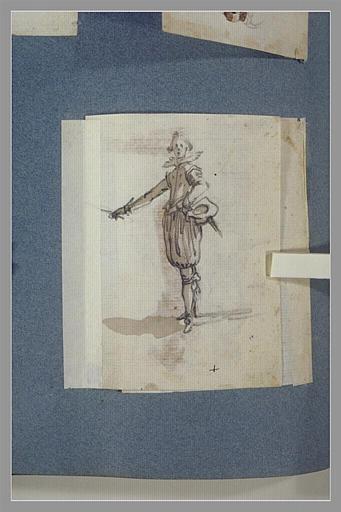 CALLOT Jacques : Un soldat debout (folio renversé)