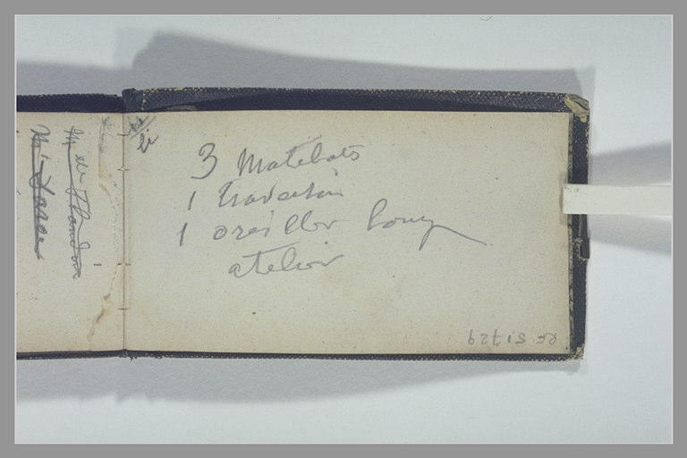 ISABEY Eugène : Notes manuscrites