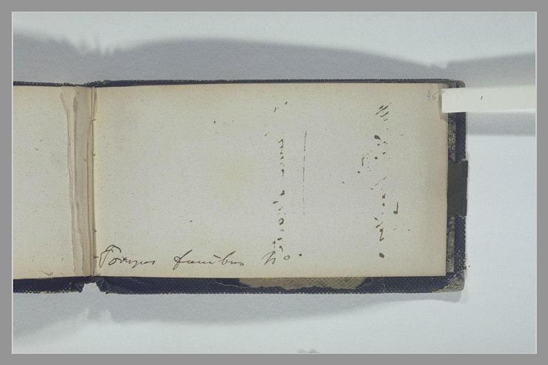 ISABEY Eugène : Note manuscrite : pompes funèbres 40