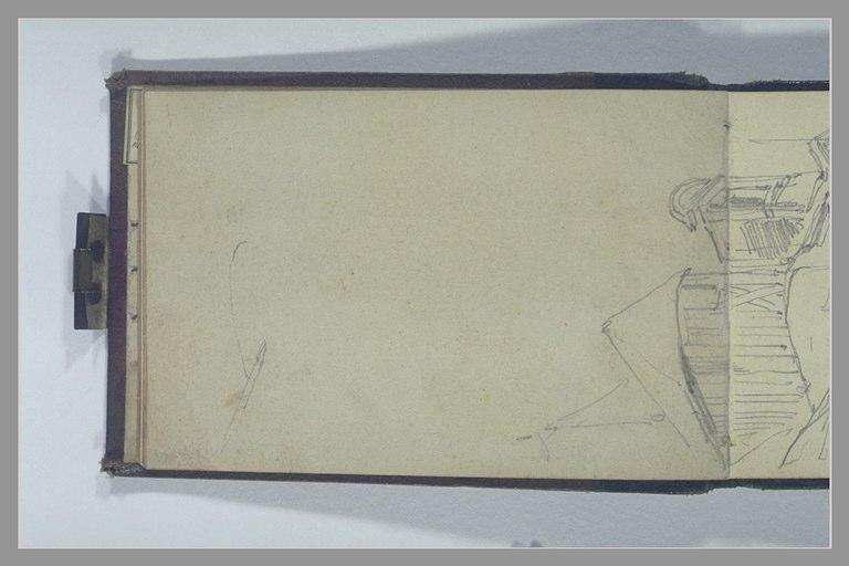 ISABEY Eugène : Toit d'une tourelle d'escalier et fronton d'une lucarne