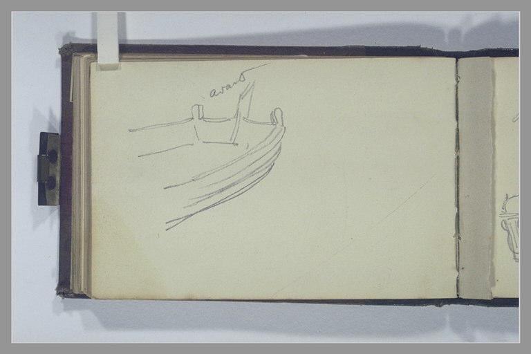 ISABEY Eugène : Partie d'un bateau