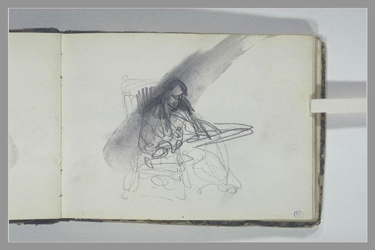 ISABEY Eugène : Homme assis