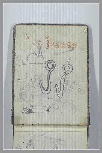 ISABEY Eugène : Signature d'Isabey : deux i en forme de crochets