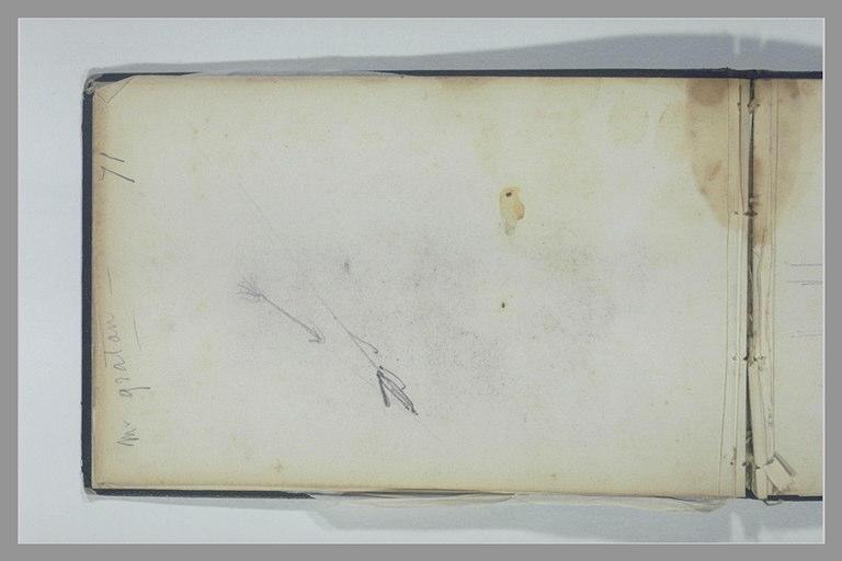 Note manuscrite ; flèche