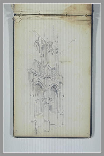 Elévation d'un édifice gothique