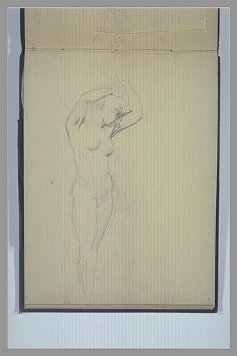 Femme nue, debout, les bras levés_0