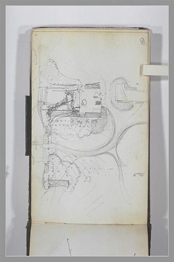 ISABEY Eugène : Plan du parc d'un château