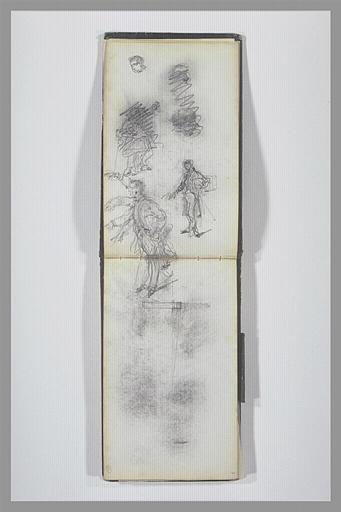 ISABEY Eugène : Jambes, vue d'un mur en coupe