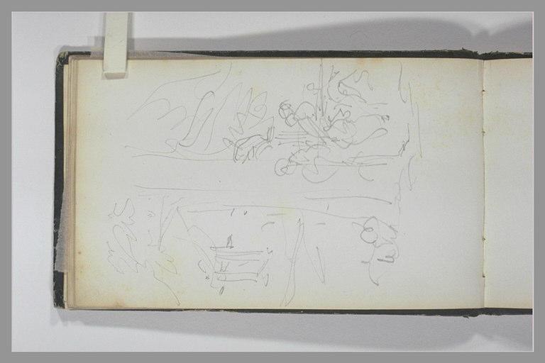 ISABEY Eugène : Deux figures sous un arbre