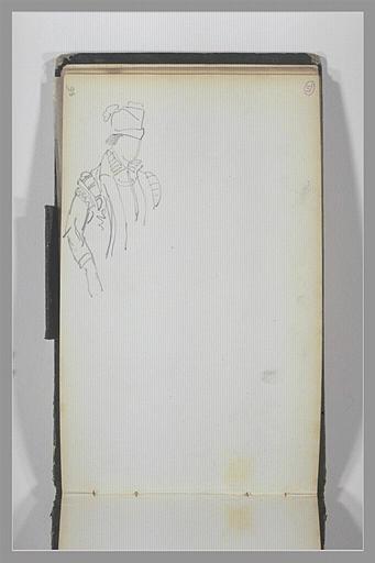 Personnage, en costume du XVe ou du XVIe siècle, vu en buste_0