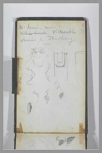 Note manuscrite ; croquis