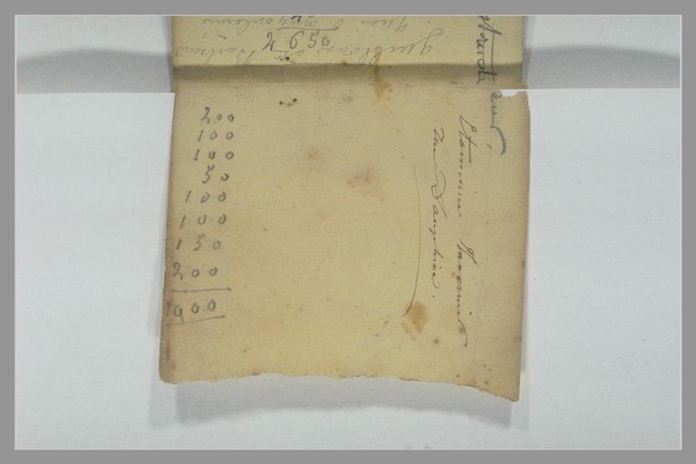 Note manuscrite et addition