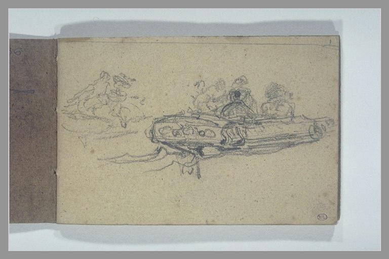 Figures dans un canot