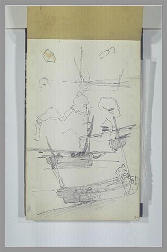 Etudes de bateaux et de pêcheurs