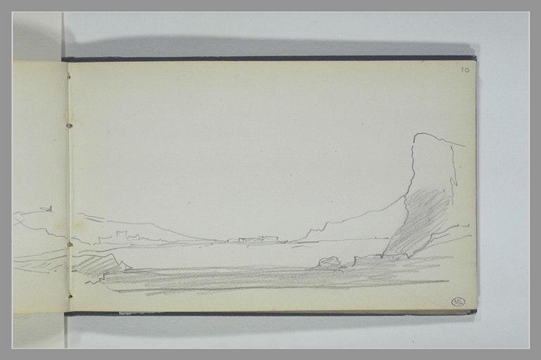 La mer bordée de falaises