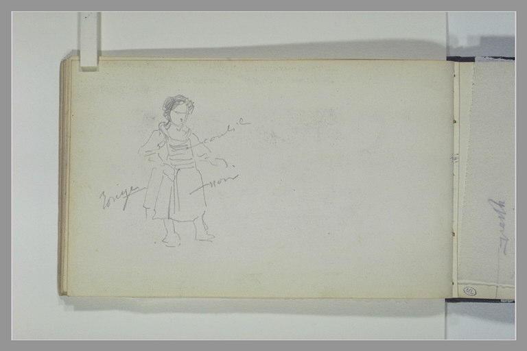 ISABEY Eugène : Etude d'un costume de fillette