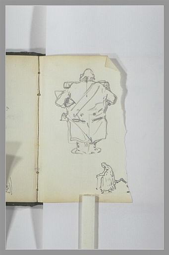 Caricatures d'un homme de dos et d'une femme de profil