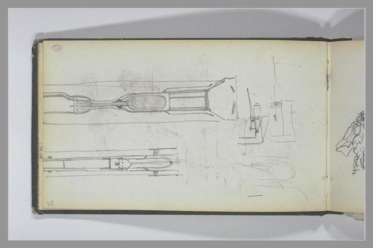 ISABEY Eugène : Croquis techniques