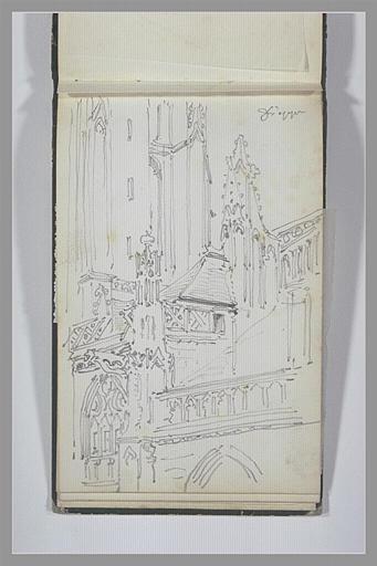 ISABEY Eugène : Eglise gothique à Dieppe
