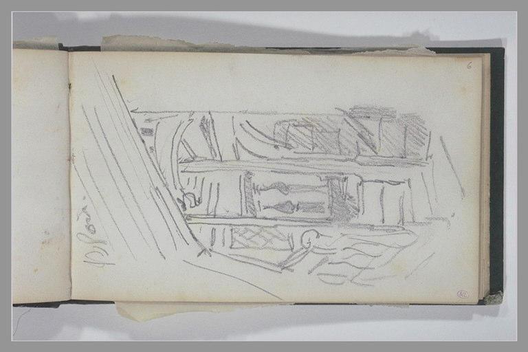 ISABEY Eugène : Escalier du château de Blois