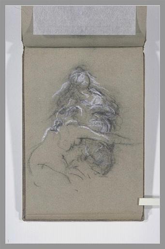 Femme nue, vue à mi-corps, s'appuyant sur une autre figure_0