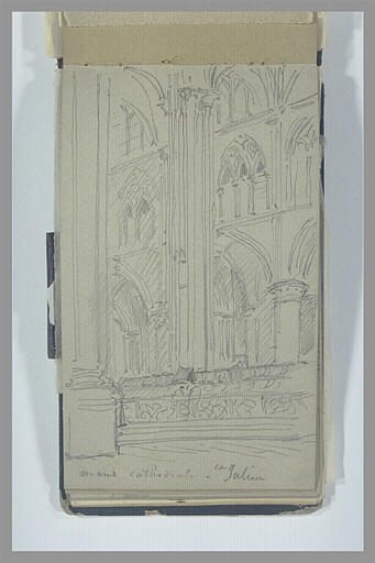 Intérieur du choeur de la cathédrale Saint-Julien, au Mans