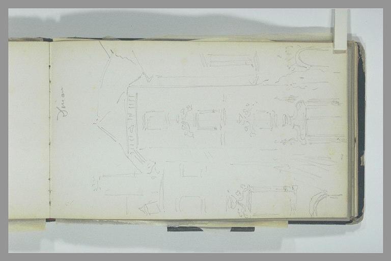 ISABEY Eugène : Tour d'escalier et corps de logis d'un édifice Renaissance, à Dinan