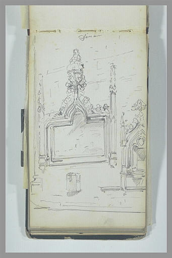 Retable et lavabo Renaissance dans un édifice religieux, à Dinan