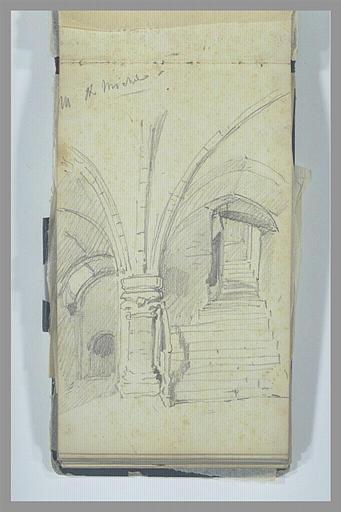 Escalier voûtée au Mont-Saint-Michel_0