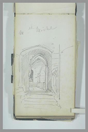 Escalier et couloir voûté au Mont-Saint-Michel