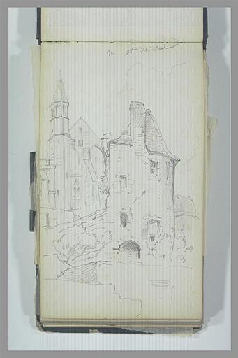 Vue exterieure d'édifices médievaux au Mont-Saint-Michel_0