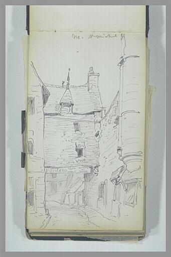 ISABEY Eugène : La Maison Poulard du Mont-Saint-Michel