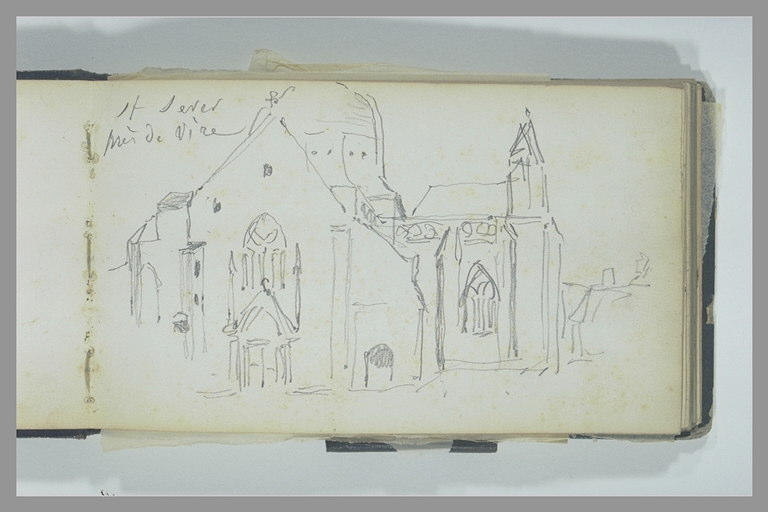 Vue exterieure de l'église de Saint-Sever, près de Vire