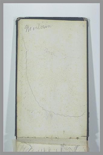 Note manuscrite : Mortain ; traits