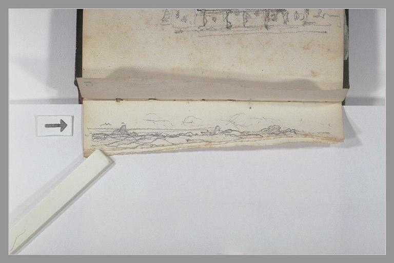 ISABEY Eugène : Fragment de croquis