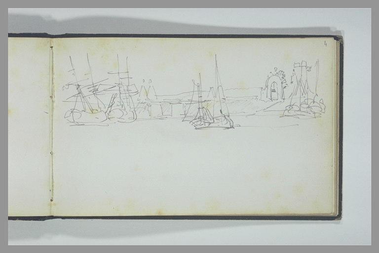 Six voiliers dans un port_0