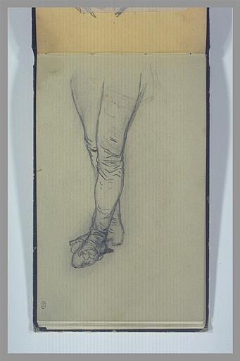 ISABEY Eugène : Jambes d'un homme chaussé de bas et d'escarpin