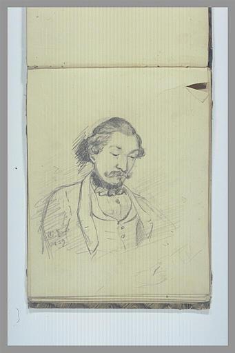 DEGAS Edgar : Portrait d'homme, en buste